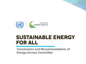 Recommendations - Sustainable Energy for All