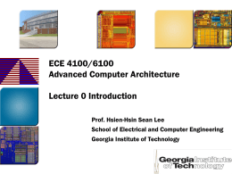 Lec0-intro - ECE Users Pages - Georgia Institute of Technology