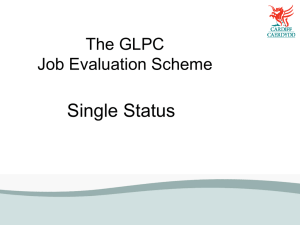 The GLPC Job Evaluation Scheme