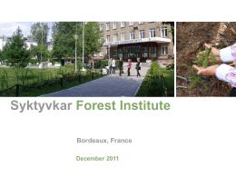 Syktyvkar Forest Institute