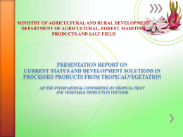 Fruit and vegetable export turnover in the period of