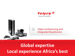 Video Conferencing - Teljoy Audio Visual