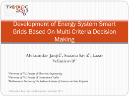 Development of Energy System Smart Grids Based On Multi