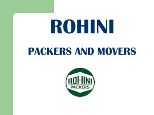 Rohini Packers and Movers