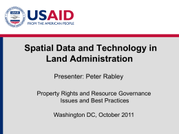 Module 4: Spatial Data and Technology in Land Administration