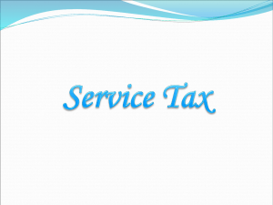 What is Service Tax?