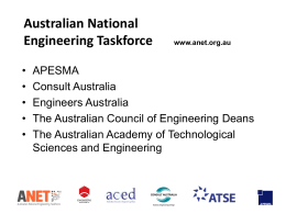 Australia Needs Engineers - ANET