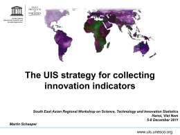 Innovation surveys in developing countries