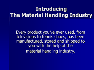 Introducing The Material Handling Industry