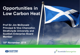 Opportunities in Low Carbon Heat