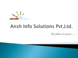 Ansh Info Solutions Pvt.Ltd