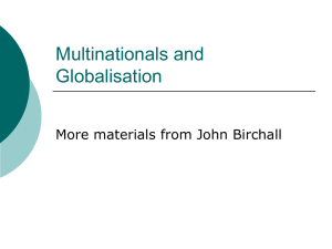 Multinationals and Globalisation