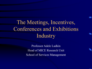 The Meetings, Incentives, Conferences and Exhibitions Industry