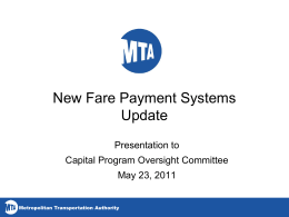 New Fare Payment Systems