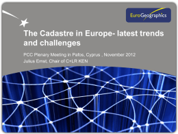 The Cadastre in Europe: Latest Trends and Challenges