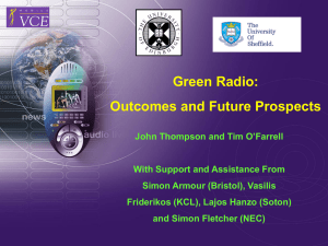 Green Radio: Outcomes and Future