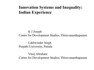 Inequality and NSI - India