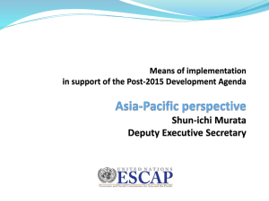 ESCAP Presentation - The UN Regional Commissions