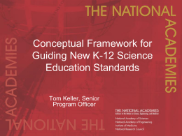 Developing a Conceptural Framework for New Science Education