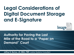 Legal Foundation for Electronic Signatures in Court