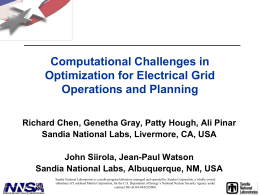 Computational Challenges in Optimization for Electrical Grid