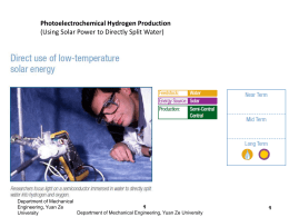 Biological Hydrogen Production