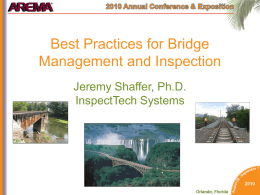 Best Practices for Bridge Management and Inspection