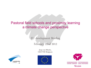 Pastoral field schools and proximity learning a