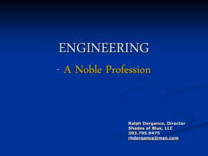 ENGINEERING – A NOBLE PROFESSION