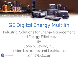Industrial Energy Management Solutions