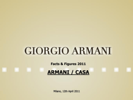 Facts & Figures 2011 ARMANI / CASA