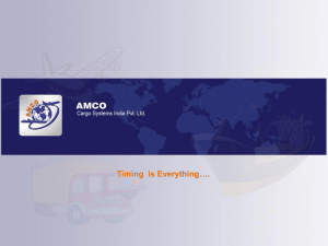Timing is Everything…. - Amco Cargo Systems India Pvt. Ltd.