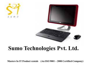 Sumo Technologies Pvt Ltd Masters in IT Product