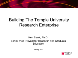 a strategic approach to building the research