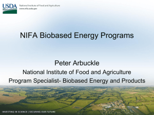 NIFA Energy Programs - Sun Grant Initiative