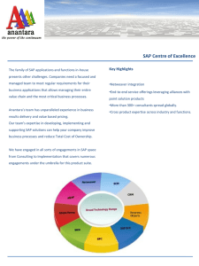 SAP Centre of Excellence