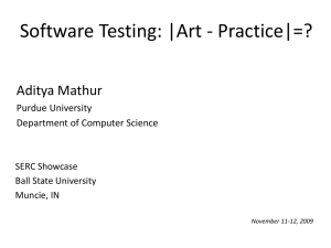 Software Testing: |Art