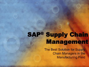 SAP®-Supply-Chain-Management-ppt
