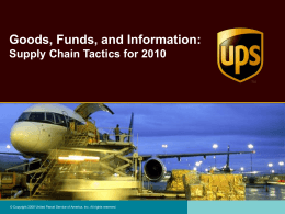 UPS Supply Chain Solutions Overview