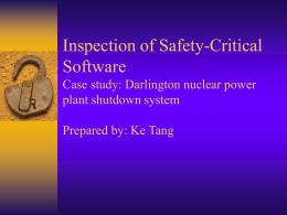 Inspection of Safety-Critical Software Using Program