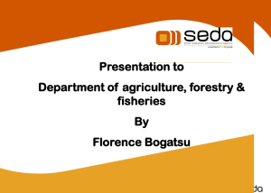 What is seda? - Department of Agriculture