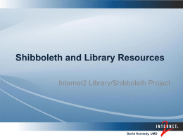 Library/Shibboleth Project