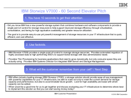 IBM Storwize V7000 Customer Presentation