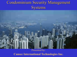 Security Management Systems for Luxury Villas and