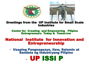 Slide 1 - UP ISSI Website