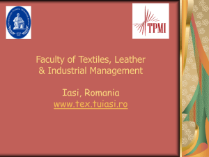 faculty of textiles and leather engineering