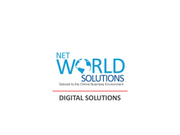 Profile Presentation - Net World Solutions