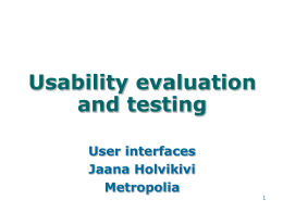 UsabilityTesting - Personal web pages for people of Metropolia