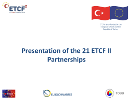 PowerPoint Sunusu - EU-Turkey Chambers Forum