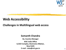6. Web Accessibility Challenges in Multilingual web access